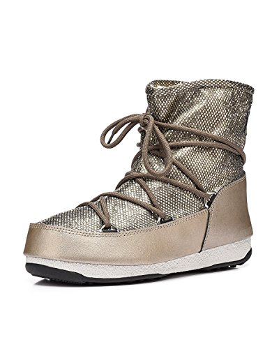 Moon Boot - Chaussure Après Ski Moon Boot Low Dance Platino - Femme Platino
