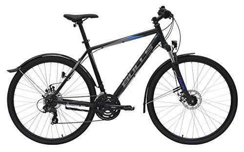 Herren Fahrrad 28 Zoll schwarz - Bulls Wildcross Street Trekking Bike - Shimano Schaltung 21 Gänge, Licht