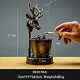TVKL posacenere Nuovo Hot Creative Creative Wrought in Ferro Ashtray Home Desktop Decorativo Acqua-Tap Cervi Uccello Forma Retro Ash Vassoio Cervo