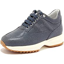HOGAN 4714F sneaker blu JUNIOR INTERACTIVE vintage effect shoes kid