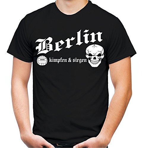 Berlin kämpfen & siegen Männer und Herren T-Shirt | Fussball Ultras Geschenk | M1 Bordeaux