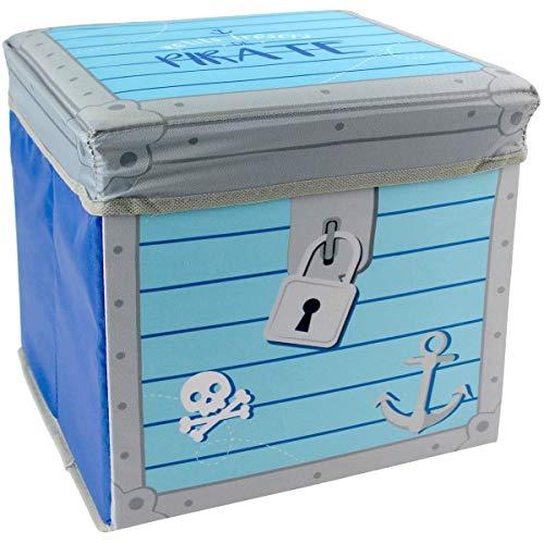 Promobo Kindersitzsack Pirat, 25 x 25 cm, Blau