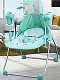 NWYJR Infant Rocker Newborn Portable Approprié Vibration électrique multifonction Appease Bébé Musique rocker Balançoire , blue
