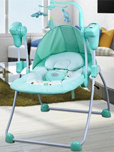 NWYJR Kleinkind Rocker Neugeborene Tragbare Geeignet Vibration Elektrischer Multifunktions Appease Musik-Baby-Schaukel , blue (Stubenwagen Schaukeln)