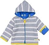loud + proud Unisex Baby Jacke Ringel, Grau (Grey Mel./Natural Gr/Na), 104 (Herstellergröße: 98/104)