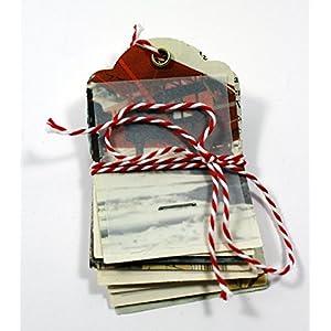 Geschenkanhänger vintage Papier handgemacht