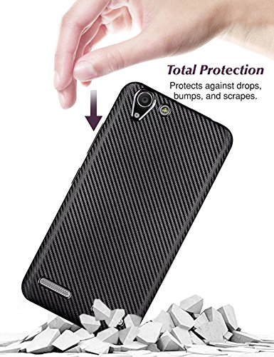 YHUISEN Lenovo Vibe K5 Case, Slim Carbon Fiber Gummi Soft TPU Hybrid Shockproof Case Cover für Lenovo Vibe K5 ( Color : Gold ) Rose Gold