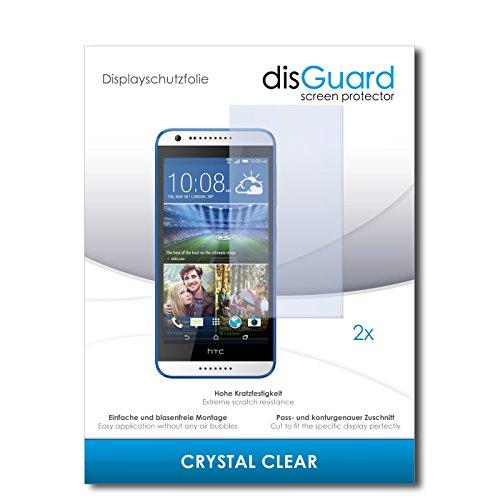 disGuard® Displayschutzfolie [Crystal Clear] kompatibel mit HTC Desire 620G Dual Sim [2 Stück] Kristallklar, Transparent, Unsichtbar, Extrem Kratzfest, Anti-Fingerabdruck - Panzerglas Folie, Schutzfolie