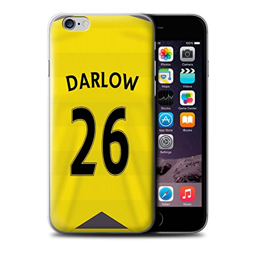 Offiziell Newcastle United FC Hülle / Case für Apple iPhone 6S / Obertan Muster / NUFC Trikot Home 15/16 Kollektion Darlow