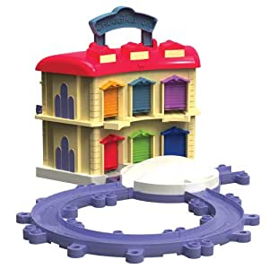 Tomy Chuggington - LC54217 - Véhicule Miniature et Circuit - Rotonde à Double Étage