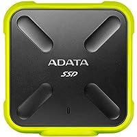 ADATA ASD700-512GU3-CYL - Disco duro externo SSD NAND 3D de 512GB (duradero, resistente al polvo, al agua y a impactos, IP68, 440 MB/s de lectura y escritura) color amarillo