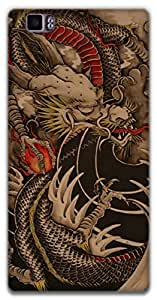 The Racoon Lean dragon hard plastic printed back case / cover for Lenovo K900
