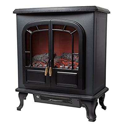 Warmlite WL46017 Log Effect Stove Fire Black