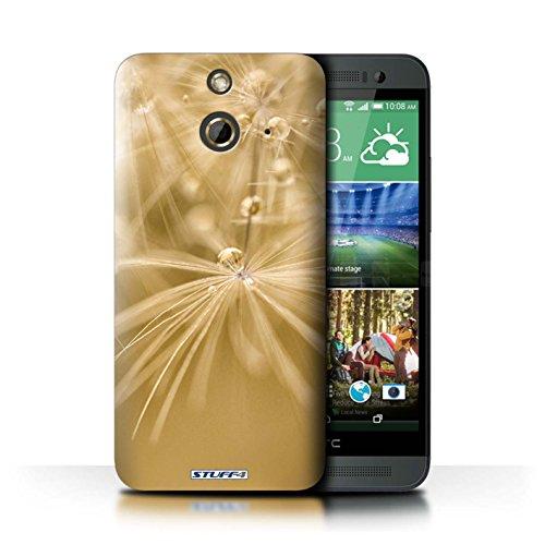 Kobalt® Imprimé Etui / Coque pour HTC One/1 E8 / Fleur Jaune conception / Série Gouttes de Fées Fleur Jaune