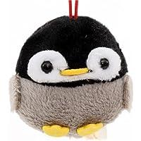 Weicher schwarzer und grauer Pinguin Puchimaru Plüschanhänger
