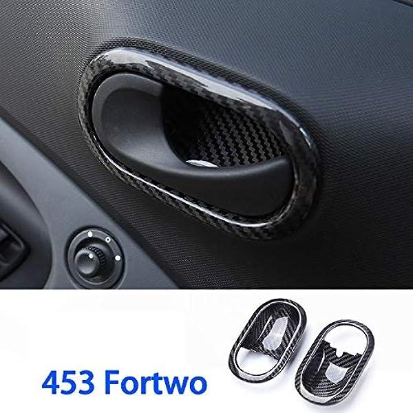 Dengd Carbon Faser Autotür Innengriff Dekorativer Rahmen Für Mercedes New Smart 453 Fortwo Forfour Auto Innendekoration Zubehör Küche Haushalt