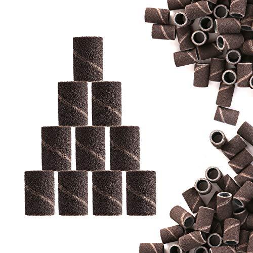100 × Bandas Abrasivas Para Torno Uñas Papel Lija