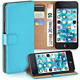 moex iPhone 6S | Hülle Türkis mit Karten-Fach 360° Book Klapp-Hülle Handytasche Kunst-Leder Handyhülle für iPhone 6/6S Case Flip Cover Schutzhülle Tasche
