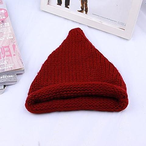 Unisex caldo alla moda Chunky tratto morbido cavo Slouchy Knit Beanie - Baseball Angolo