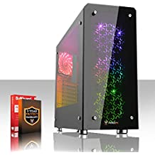 Fierce GUARDIAN RGB Gaming PC - Veloce 4 x 3.7GHz Quad-Core AMD Ryzen 5 1500X, 1TB Disco Rigido, 8GB di 2133MHz DDR4 RAM / Memoria, NVIDIA GeForce GTX 1050 2GB, Gigabyte AB350M-Gaming 3 Scheda Madre, GameMax Sirius RGB Cassa, HDMI, USB3, Wi - Fi, Perfetto per il gioco competitivo, Finestre non Incluso, 3 Anni Di Garanzia 381793