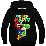 East-hai-buy Suéter para Niños, Moda Niñas Super Mario Bros Sudadera Pullovers Sudaderas con Capucha Ropa Deportiva con Capuc