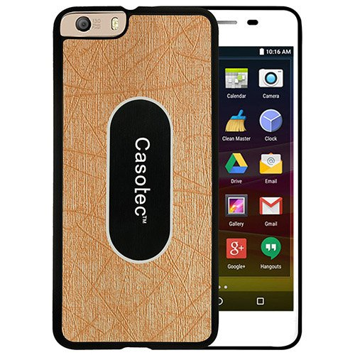 Casotec Metal Back TPU Back Case Cover for Micromax Canvas Knight 2 E471 - Gold  available at amazon for Rs.149