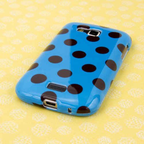 EMPIRE Full Cover Couvertureage Teal and Brown Polka Dot Case Étui Coque for Samsung ATIV Odyssey I930