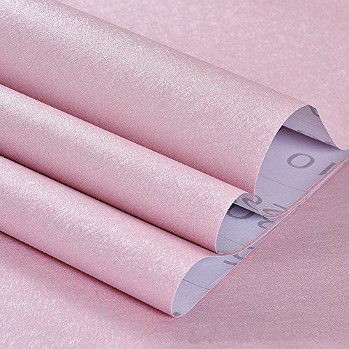 Selbstklebend Tapete PVC, wasserdicht, mit Klebstoff Uni Wand Aufkleber Farbe Renovierungs Hintergrund Aufkleber für Home Schlafzimmer Wohnzimmer hellblau (60x,), Vinyl, silber, 60x500