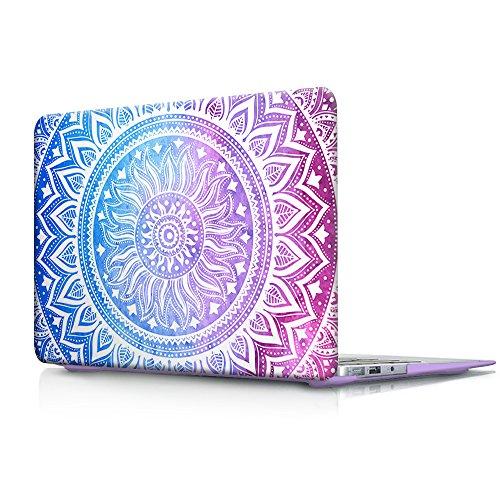 cover-macbook-air-13-costodia-viola-haocoo-medallion-pattern-ultra-sottile-plastica-rigida-shell-sna