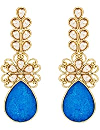 The Luxor Stylish Fancy Party Wear Gold Plated Chandelier Earrings For Girls And Women