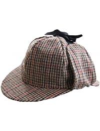 Sherlock Holmes Tweed Deer Stalker Hat.