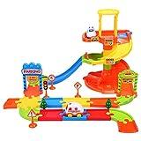 Gernice Kinder Autobahn Spielzeug Parkhaus Garage für Spielfahrzeug Parkgarage aus Plastik