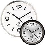 ST.LEONHARD - Horloge Murale à Quartz avec éclairage Automatique - avec Radio-Pilotage