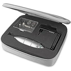 Medisana Medistyle L - Aparato de manicura y pedicura con velocidad ajustable, 1600 - 5800 rpm y 10 accesorios, color plateado