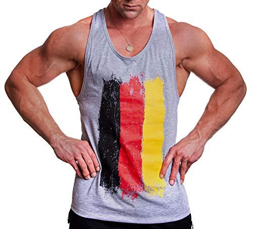 PROUD Sportswear - Gym Tank Top Stringer Shirt German Flag (M)