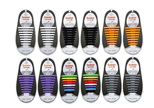 FXY lacci 6paia silicone no Tie adulti elastico set per stivali e scarpe casual scarpe da scarpe