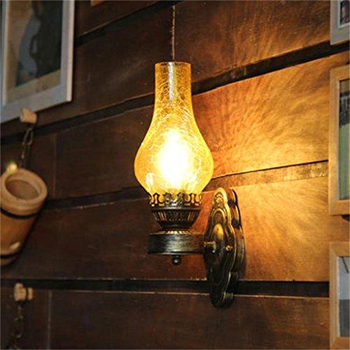 HOME UK-Muro cinese vecchio stile lampada olio luci corridoio lampada da parete camera da letto (Modello Di Olio Di Vetro Lampada)