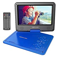 DBPOWER 9.5' Portable DVD Player, 5 Hour Rechargeable Battery, Swivel Screen, Supports SD Card and USB, With Game Controller+ Car Charger  (blue)
