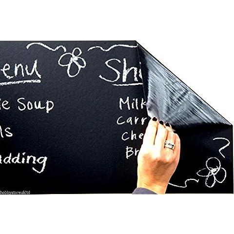 Blackboard Vinyl Self Adhesive Black Board Wall Sticker + 5 Chalks Included New by PMS®