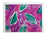 "Jack Richeson 50 Pack   9"" X 12"" 88# Watercolor Paper"