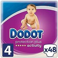 Dodot Pañales Protection Plus Activity, Talla 4, para Bebes de 9-14 kg - 48 Pañales