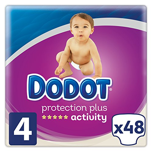 Dodot Pañales Protection Plus Activity, Talla 4, para Bebes de 9-14 kg - 48 Pañales