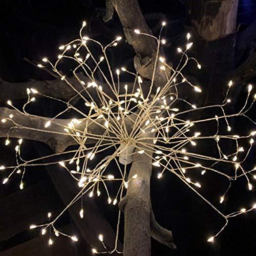 Cont Panel (Feuerwerk Lichter LED Lichterketten 8 Modi Dimmbare Lichterketten mit Fernbedienung Cont LED Streifen Beleuchtung mit mit,warmweiß für zimmer, Bad, Flur, Schlafzimmer, Küche usw. (Weiß))
