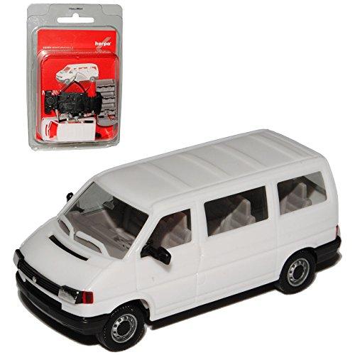 VW Volkswagen T4 Transporter Personen Weiss 1990-2003 Bausatz Kit H0 1/87 Herpa Modell Auto