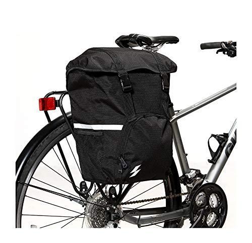 LIEOAGB Fahrradtasche hinten Fahrrad mit großer Kapazität Wasserdichte Mountainbike-Tasche Bike Pouch Polyester-black-onesize
