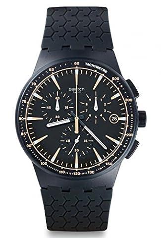 Swatch Herren-Armbanduhr Chronograph Quarz Silikon