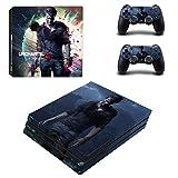 Playstation 4 Pro + 2 Controller Aufkleber Schutzfolien Set - Uncharted 4 /PS4 P