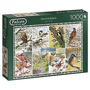 Jumbo Falcon de Luxe Winter Birds 1000 pcs Puzzle - Rompecabezas (Puzzle Rompecabezas, Fauna, Adultos, Pájaro, Niño/niña, 12 año(s))