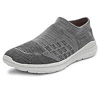 Bourge Men's Loire-100 Grey and L.Grey Running Shoes-8 UK (42 EU) (9 US) (Loire-100-08)