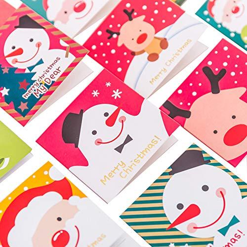 Da.Wa 3 x Mini Weihnachtskarte Heiligabend Wunsch Karte Zufälliger Stil